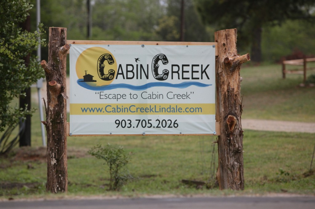 cabin creek sign medium